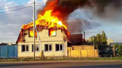 горит чужой дом