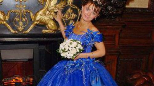 к чему снится синее свадебное платье