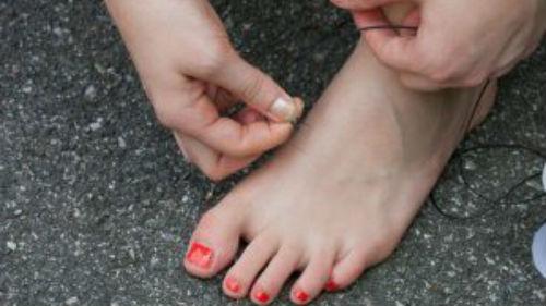 потерять обувь на правой ноге