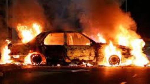 машина горела