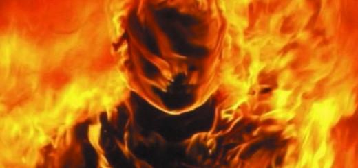 человек горит во сне