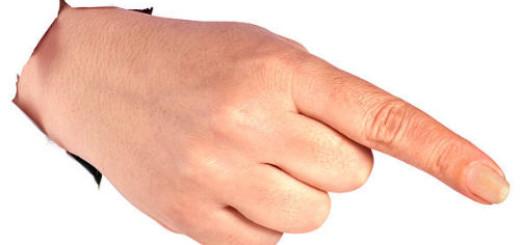 указательный палец во сне