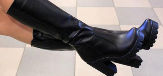 черные сапоги на каблуках во сне