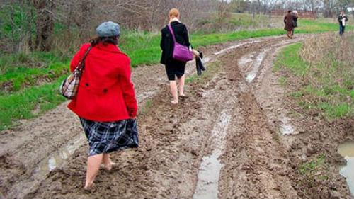 грязь жижа на дороге