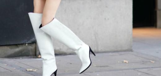 белые сапоги на каблуках во сне