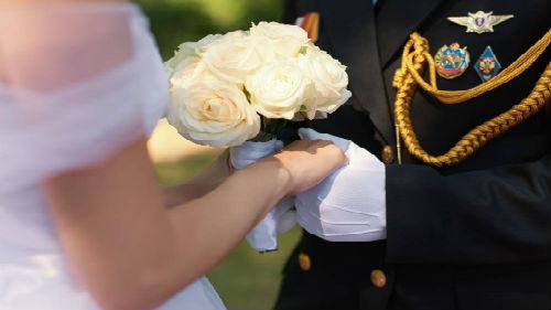 военный в качестве жениха