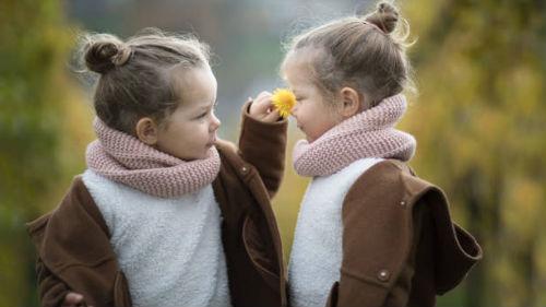 девочки двойняшки