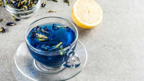 видеть голубой чай