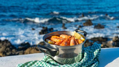 видеть морепродукты