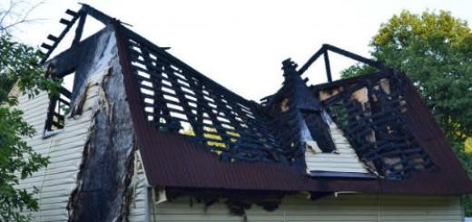 дом после пожара во сне
