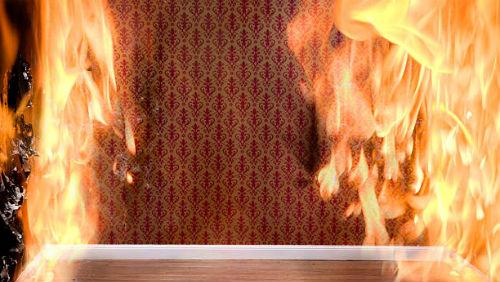видеть пламя в квартире