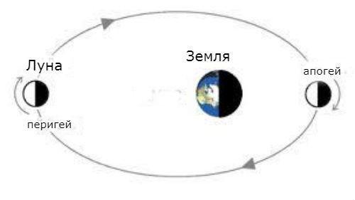апогей и перигей луны