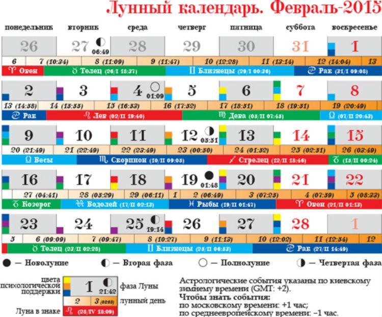 характеристика лунных дней февраль2016 термобелье