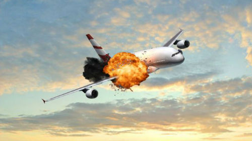 взрыв аэробуса