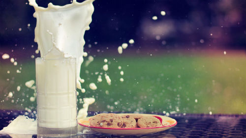 разлитое молоко
