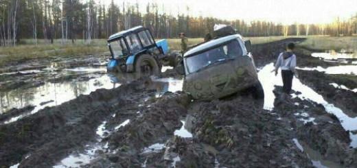 грязь на дороге