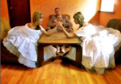 соперница в свадебном платье