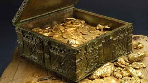 клад сундук с золотом