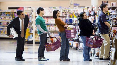 стоять в очереди в супермаркете во сне