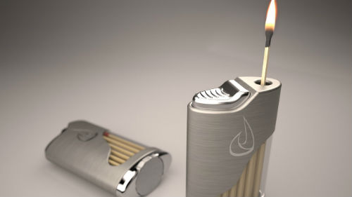 подкурить зажигалкой
