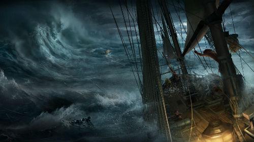 шторм на корабле во сне
