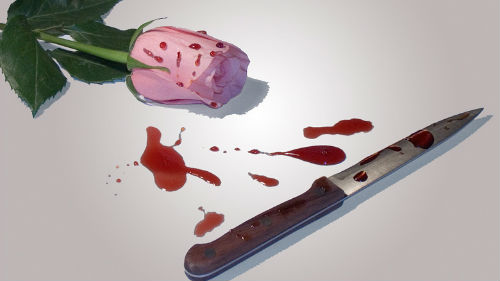 ножик в крови