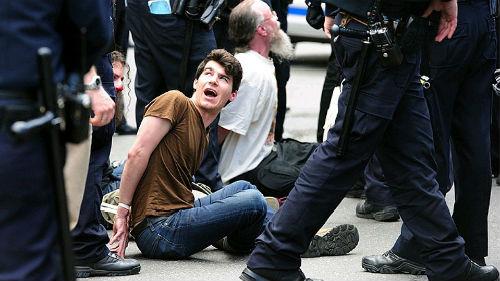 разгон демонстрации