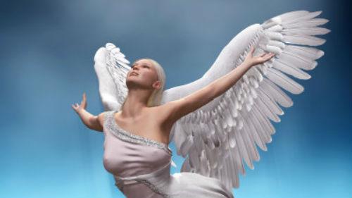 ангел с крыльями в небе во сне