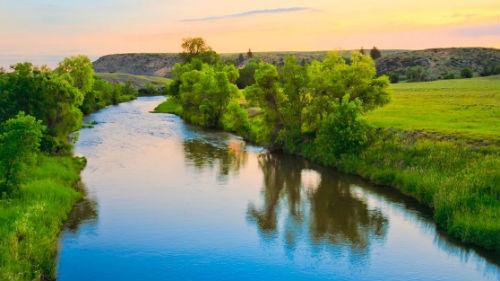 чистая река во сне
