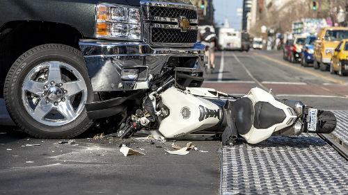 попасть в катастрофу на мотоцикле