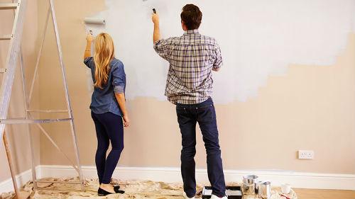 красить стены в белый цвет