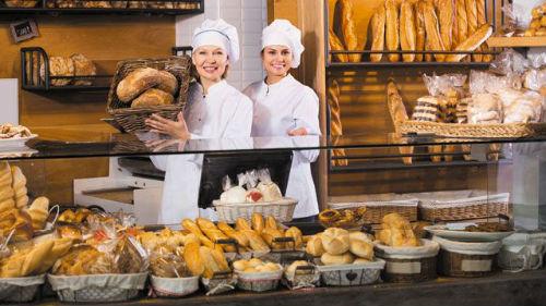 хлебобулочные изделия в магазине