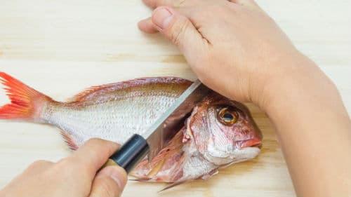потрошить морскую рыбку