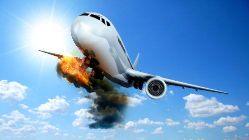 находиться в падающем самолете
