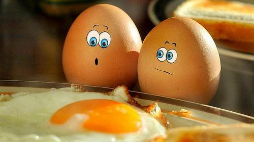 к чему сняться битые яйца