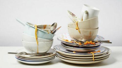 видеть гору немытой посуды
