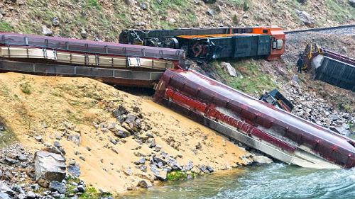 крушение поездов