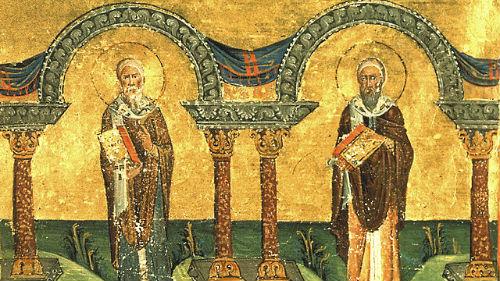 Святители Афанасия и Кирилла, архиепископoв Александрийских икона