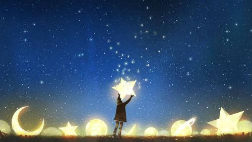 звезды в ночном небе во сне